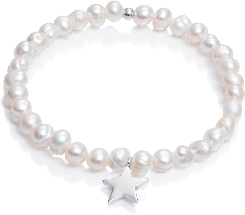 Pulsera Viceroy Comunión Niña 6008P000-60 Perlas y Estrella de Plata de Ley