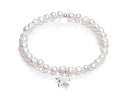 98260b695596 Pulsera Viceroy Comunión Niña 6008P000-60 Perlas y Estrella de Plata de  Ley  Amazon.es  Joyería