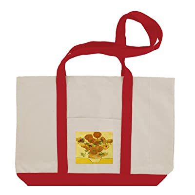 Bottle And Lemons On Plate (Van Gogh) Cotton Canvas Boat Tote Bag Tote