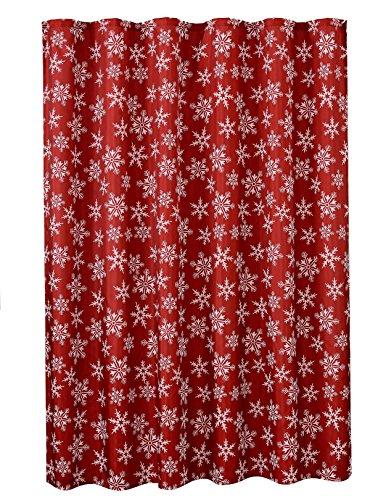 Violet Linen Decorative Christmas Printed Design Shower Curtain,