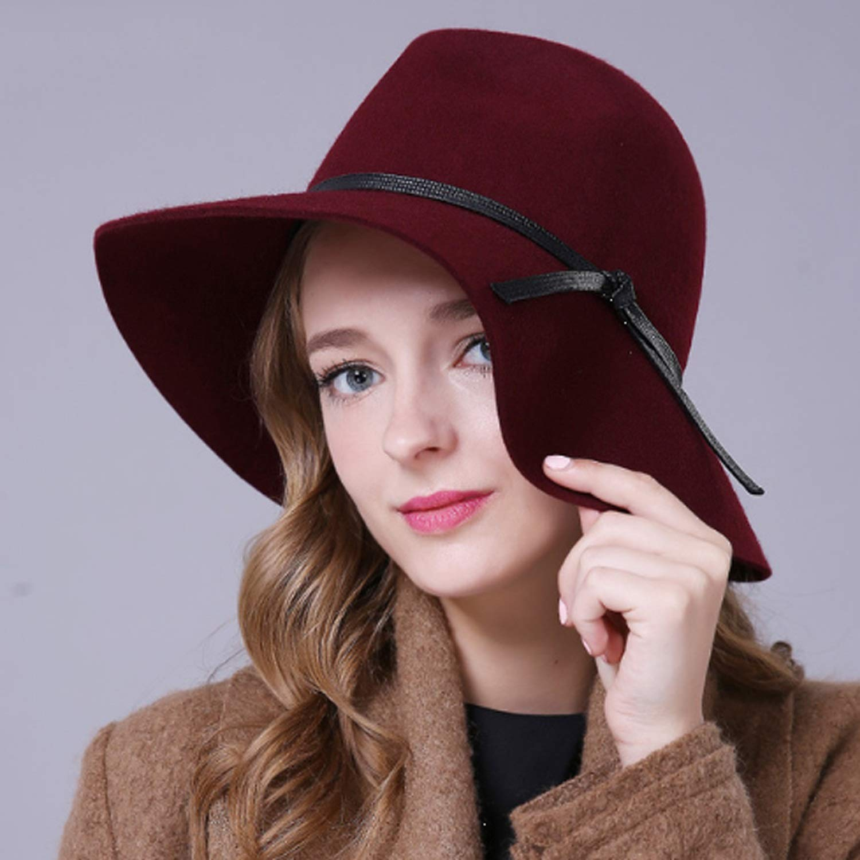 Shengjuanfeng Sombrero de Lana Sombrero Femenino Femenino Sombrero dachy Jazz Cap Retro otoño cálido Mantener la Moda (Color : Rojo, Size : L) a7195f