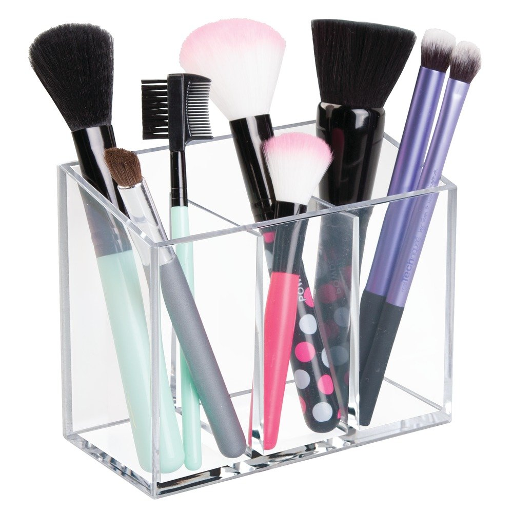 Amazon.com: InterDesign AFFIXX, Peel and Stick Strong Self-Adhesive Vanity  Cosmetic Organizer, Storage for Hair Care, Jewelry, Bath, Q-Tip Holder,  Makeup ...