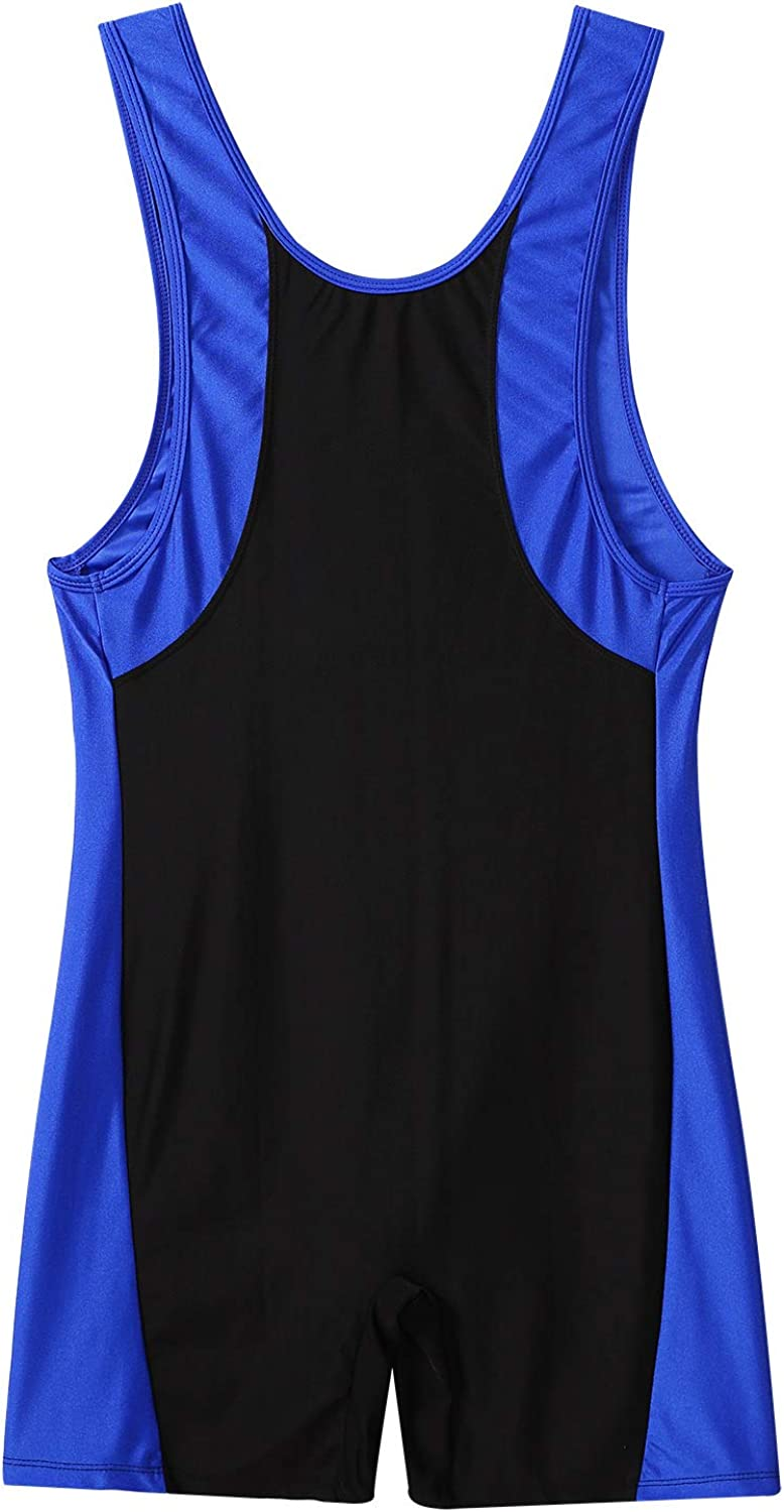 YiZYiF Mens Wrestling Singlet Softsuit with Classic Style One Piece Underwear