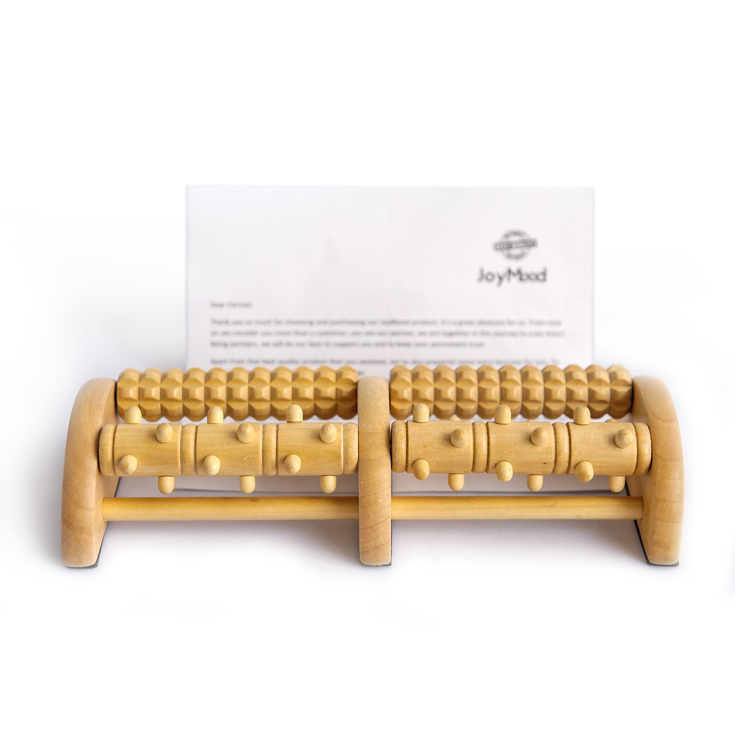 Foot Massager Wooden Roller - Relieve Plantar Fasciitis, Heel & Foot Arch Pain + Foot File Relaxation...