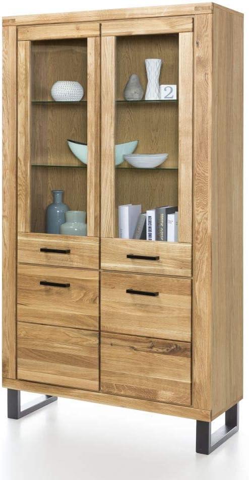 Elfo Klara - Vitrina de 4 puertas (madera de roble maciza barnizada)