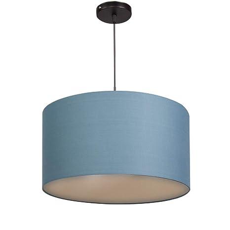CCLIFE Lámpara colgante, Lámpara Colgante techo tela, pantalla redonda,40 cm de diámetro, lámpara redonda,Lámpara de tela para techo, Color:Light ...