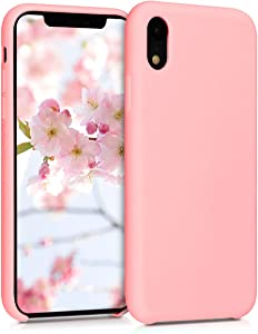 kwmobile TPU Silicone Case Compatible with Apple iPhone XR - Soft Flexible Rubber Protective Cover - Rose Gold Matte