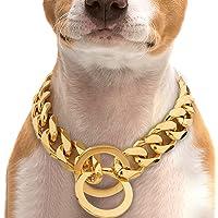 A+TTXH+L Hondenhalsband Metalen huisdier hondenketting kraag roestvrij staal training choke slip halsband leiband voor…