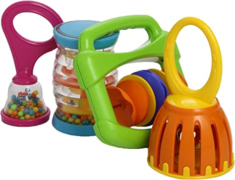 Baby Musical Instrument Gift Set Fun Music Sounds Play Colour Rattle Halilit New