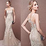 Customized Simple Beauty Wedding Dress Party Dress Evening Dress Lace Wedding Dresses