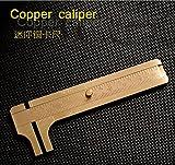 Mini EDC Gold Solid Brass Double Scales Digital Vernier Copper Caliper