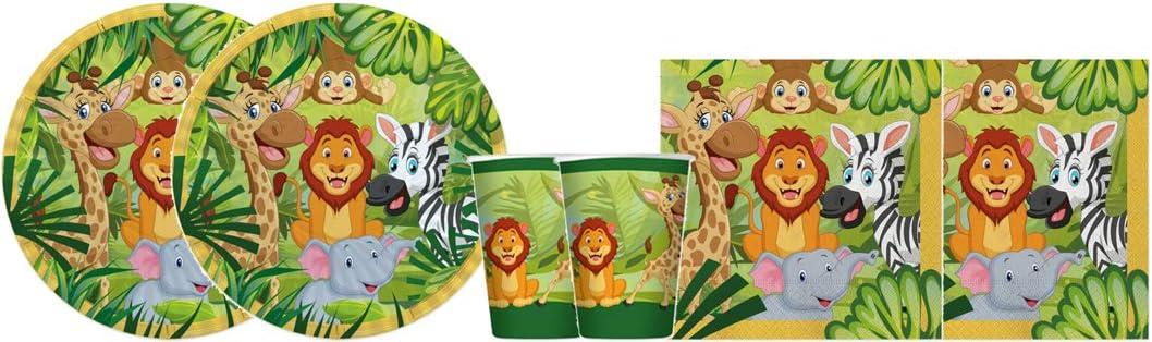 big-party Kit - A Cumpleaños de Animales de la Selva