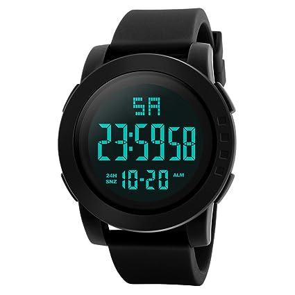 Unisex Electrónico Relojes de Pulsera, YpingLonk Impermeable al Aire Libre Reloj de Pulsera Militar Deporte LED Analógico-Digital para Regalo: Amazon.es: ...