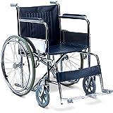 Kosmocare Economy Dura Rexine Spoke Wheel Regular Foldable Wheelchair