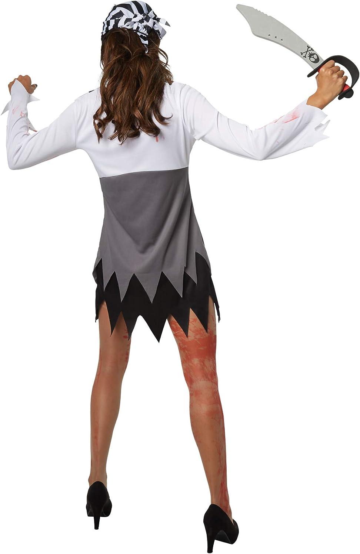 dressforfun 900438 - Disfraz de Mujer Bucanera horripilante, Atuendo de Pirata de una Pieza con Manchas de Sangre (M | No. 302251): Amazon.es: Productos para mascotas