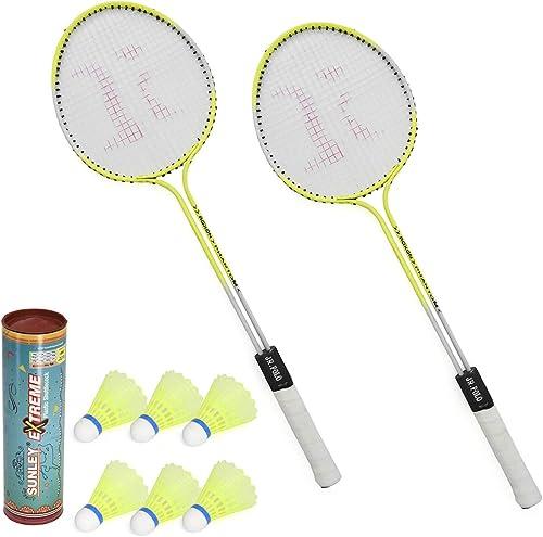 6. SUNLEY Phantom Badminton Racket (Set of 2)