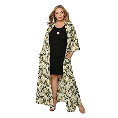 1ffcad38775 Astra Signature Women s Flowy Cover up Amarie Resort Kimono Cardigan Open  Front Maxi Dress One Size at Amazon Women s Clothing store