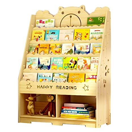 Amazon.com: Estantería infantil de madera maciza de ...