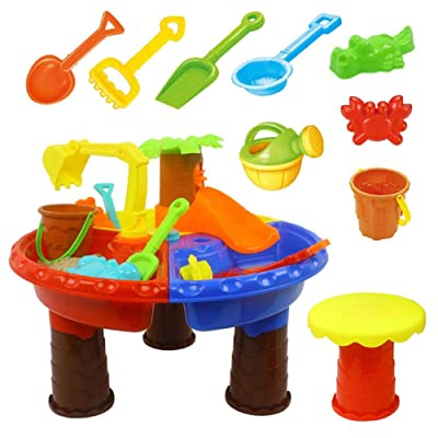 Kids Beach Toy,Sand and Water Table Garden Sandpit Play Set Kid Sand and Water Table Playing Set Digging Sand Tools: Home & Kitchen