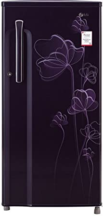 LG 188 L 2 Star Direct Cool Single Door Refrigerator(GL-B191KPHV, Purple Heart)