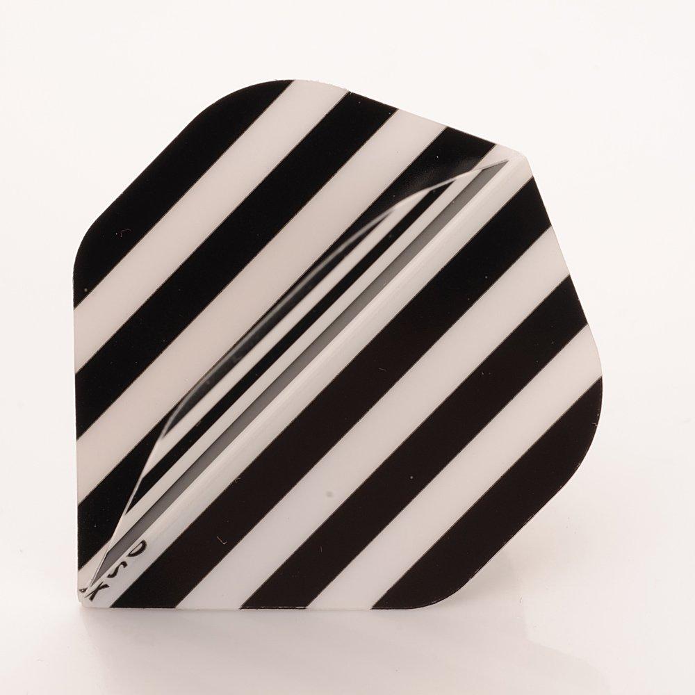 5 x Sets of Black White Stripes Team Colours, Football, Standard Shape