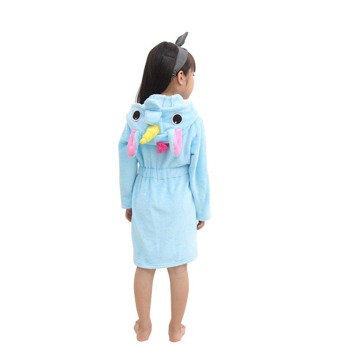 RGTOPONE Kids Soft Bathrobe Unicorn Fleece