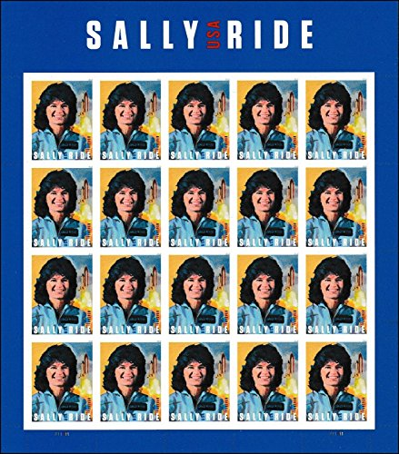 (USPS Sally Ride 1st Women in Space Sheet of Twenty Forever Stamps Scott 5282)
