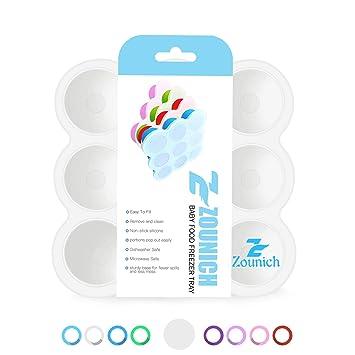 Contenedor de comida para bebés y bandeja de silicona con tapa - molde congelado bebé - bebé de silicona fruta - alta calidad sin BPA: Amazon.es: Hogar