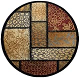 Universal Rugs 107748 Multi 6` Round Area Rug, 5-Feet 3-Inch Round