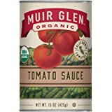 Muir Glen Organic Tomato Sauce, No Sugar Added, 15 Ounce Can (Pack of 12)