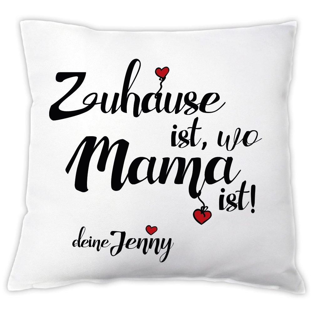 """wo Mama ist!/"""" personalisiert Kissen /""""Zuhause ist Muttertagsgeschenk"""