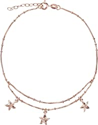 SL-Silver Fusskette Fusskettchen Seesterne 925 Silber Rose Gold überzogen