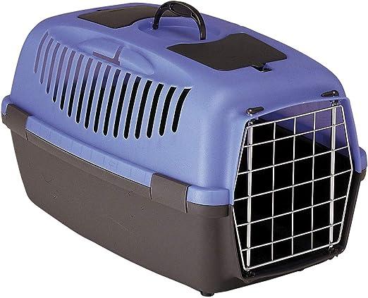 Stefanplast Gulliver Caja de Transporte, 55 x 36 x 35 cm, Color Gris: Amazon.es: Productos para mascotas