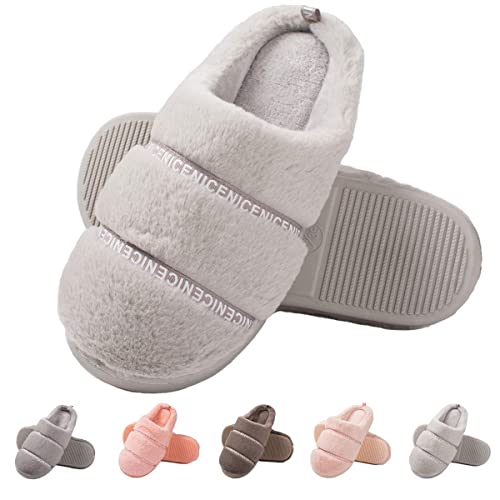 23f2c4ebf578 Women s Memory Foam House Slippers-Fuzzy Warm Slippers Soft Plush Home  Slippers Fluffy Slip On