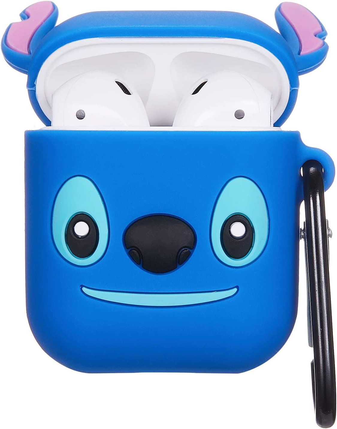 New Stitch Mulafnxal Compatible with Airpods 1/&2 Case,Cute 3D Funny Cartoon Character Silicone Airpod Cover,Kawaii Fun Cool Catalyst Design Skin,Fashion Animal Case for Girls Kids Teens Boys Air pods