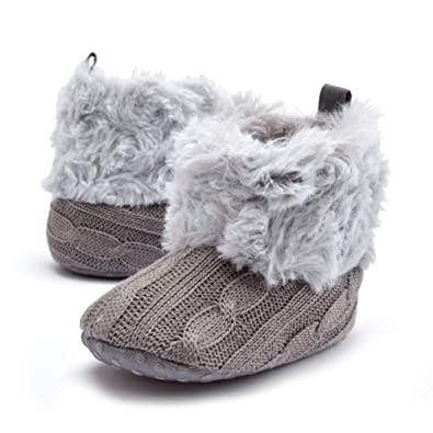 4504ee1fd0c Woopower Winter Baby Snow Boot Toddler Knit Fleece Infant Wool Crib  Shoes