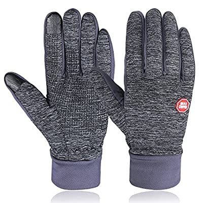 Winter Gloves, HiCool Unisex Touch Screen Gloves Thermal Warm Gloves Driving Cycling Running Gloves Outdoor Sports Gloves for Men and Women