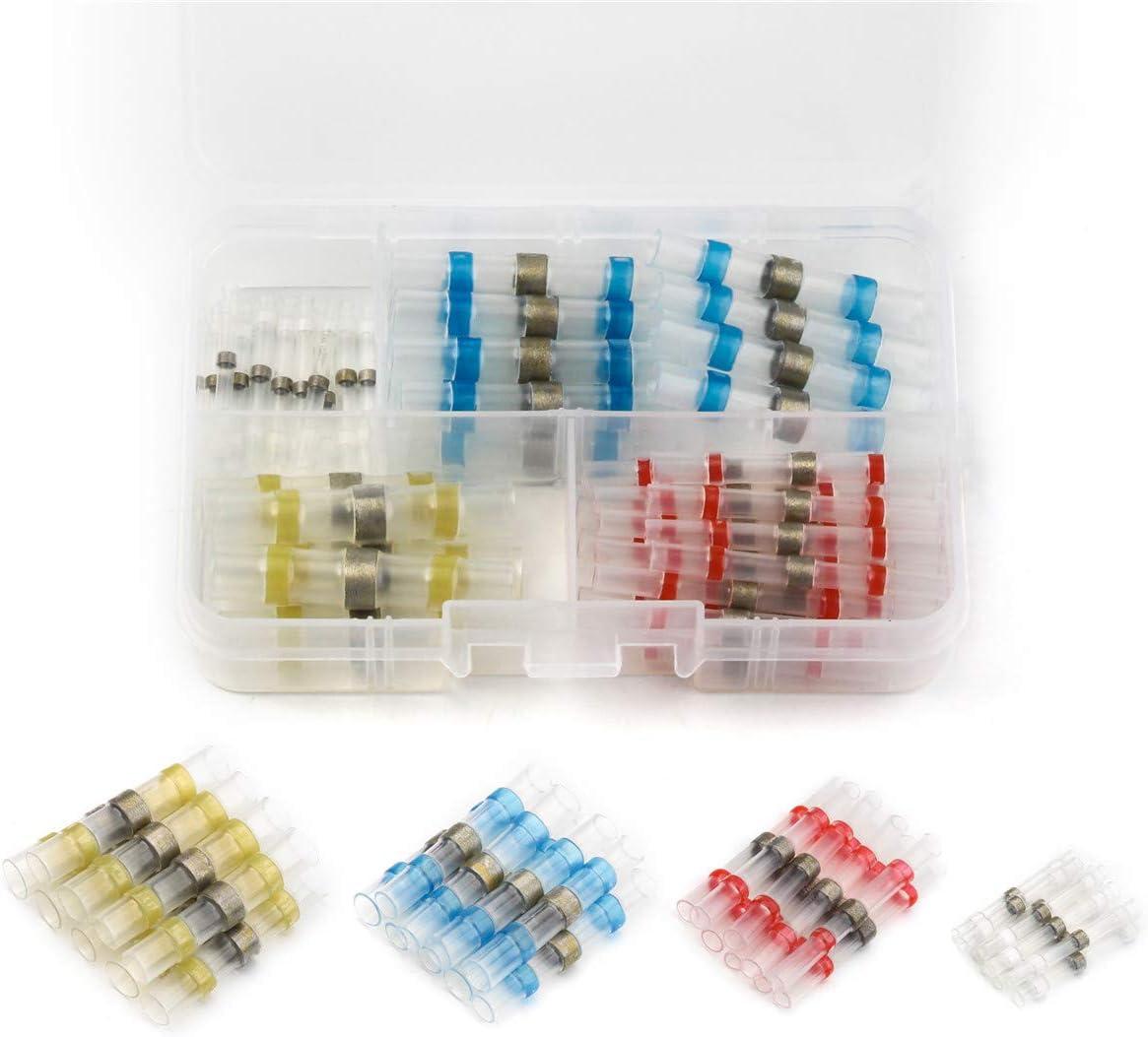 50Pcs 26-24AWG Waterproof Solder Sleeve Heat Shrink Wire Splice Connector White
