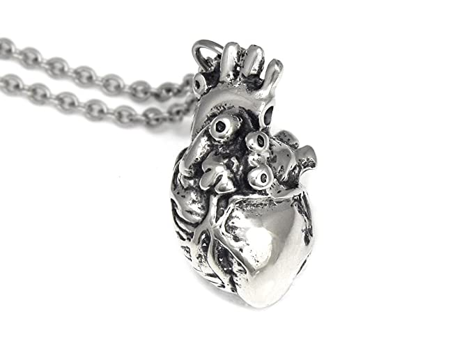 Amazon Handmade Human Anatomical Heart Necklace In Pewter Handmade