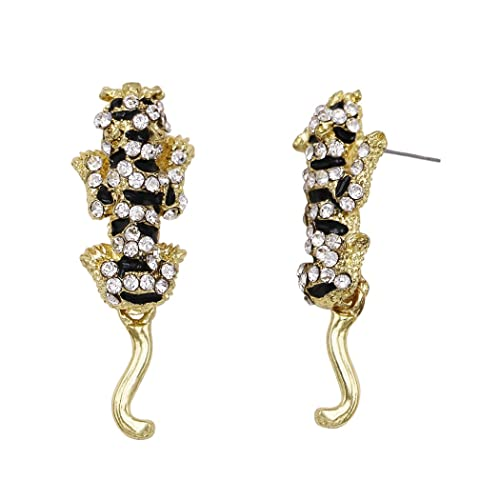 0dc331bbb Amazon.com: Rosemarie Collections Women's Black Panther Earrings ...