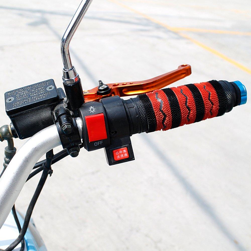 PsmGoods/® Motorrad Blitz Warnleuchte Lenker Schalter Blinker Lampenschalter f/ür Motorr/äder Elektromlatten ATVs Motorroller Schneemobile Light Switch