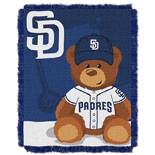 (The Northwest Company MLB San Diego Padres Field Bear Woven Jacquard Baby Throw, 36