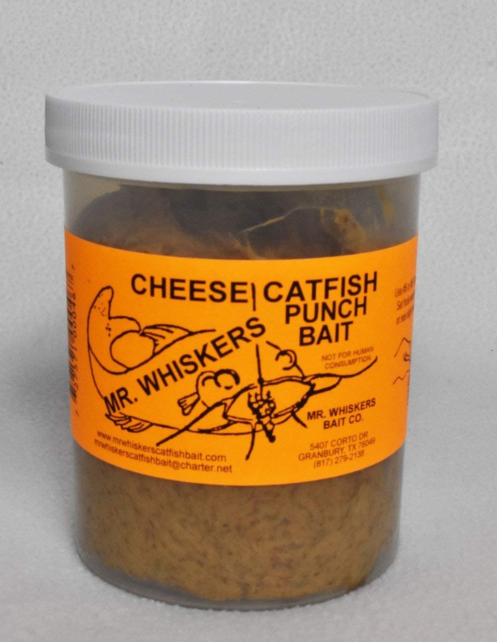 Mr. Whiskers Cheese Catfish Punch Bait - Pint