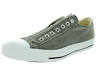 Converse - Chuck Taylor All-Star Charcoal / Orange Slip-on Schuhe (1X841), EUR: 41, Grey/Orange