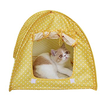 Zhi Jin 1pc Plegable Mascota Perro Gato Tienda casa Cama Camping Tiendas de campaña Impermeable hogar al Aire Libre para Viajar: Amazon.es: Productos para ...