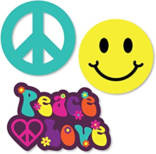 product image for Big Dot of Happiness 60's Hippie - DIY Shaped 1960s Groovy Party Cut-Outs - 24 Count