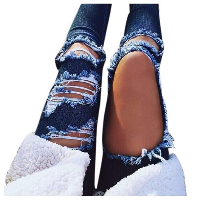 Gusspower Pantalones Vaqueros Mujer, Moda Jeans Mujer ...