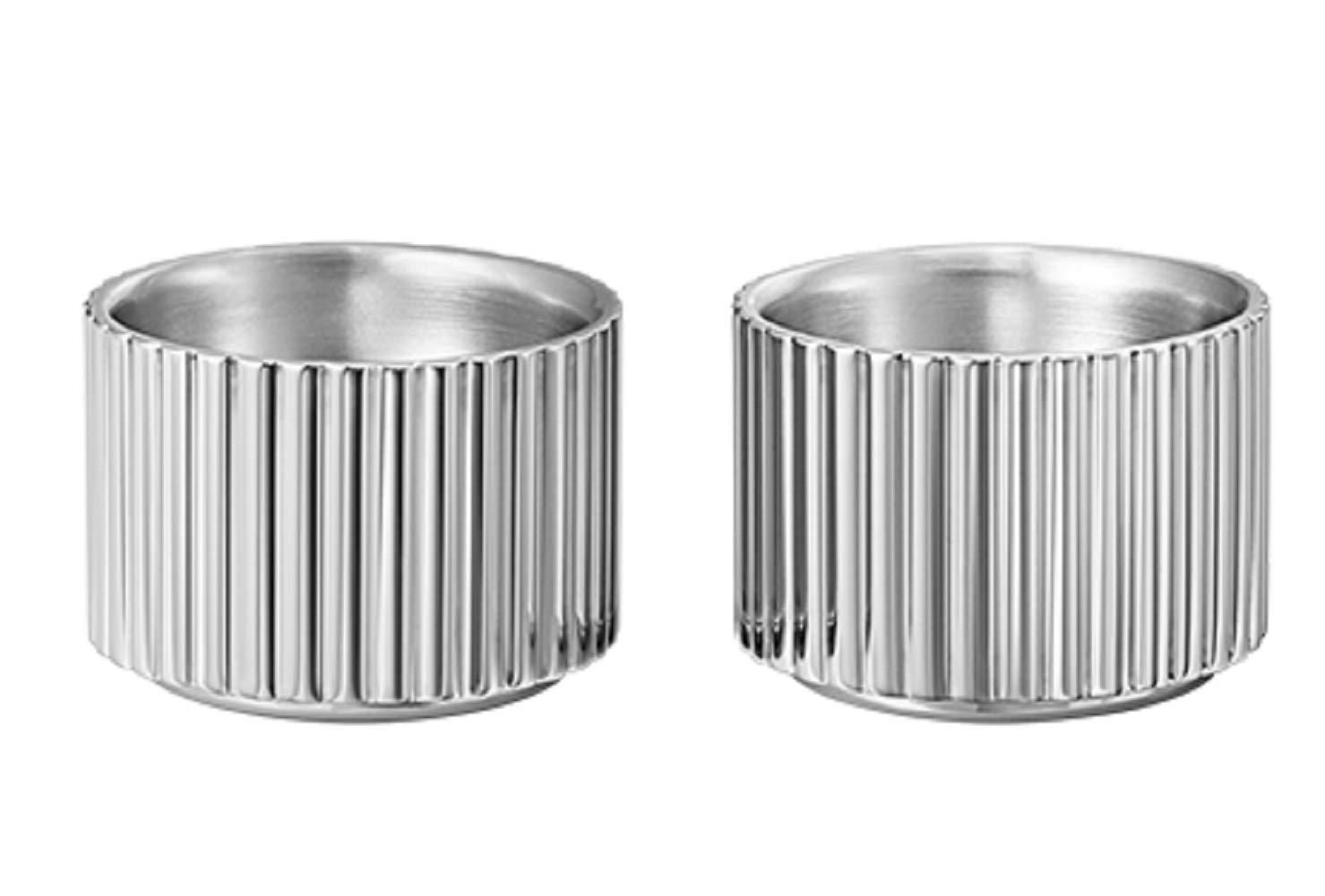 Georg Jensen Bernadotte Egg Cups 2 Piece Set, Stainless Steel