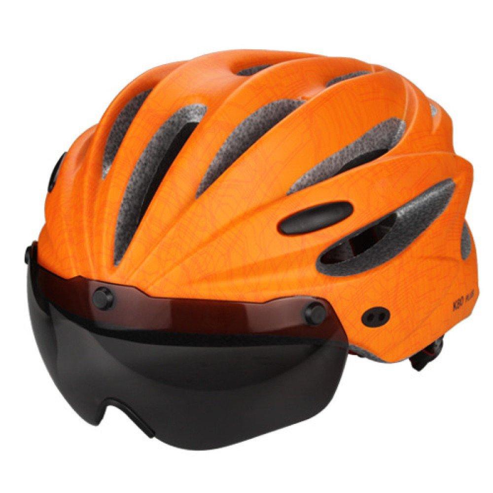 JIAN Fahrradhelm Outdoor Sports Sicher Komfortabel Leicht UV-Besteändig Radfahren Ausrüstung Schutzbrillen,Orange