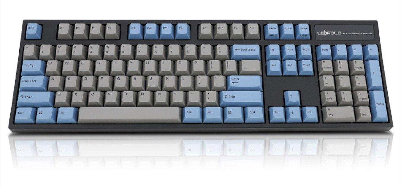 824c3791d10 Amazon.com: Leopold FC900R PD Mechanical Keyboard with Cherry MX Blue Switch  (Black Case, Blue/Grey PBT Doubleshot Keycaps, 104 Keys, ANSI/US):  Computers & ...